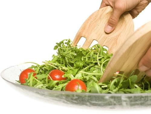 Hands Salatbestikk i Tre