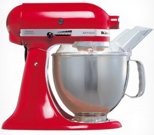 Rød KitchenAid Kjøkkenmaskin