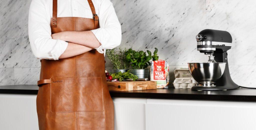 Kjøkkenforkle skinn