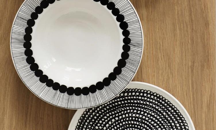 Kombiner ulike tallerkener i Marimekko servise