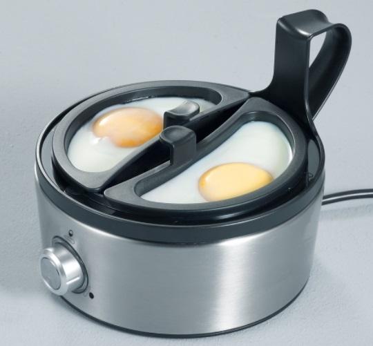 Eggkokeren kan også benyttes til posjerte egg