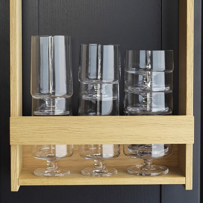 Glassene fra STUB er lett å stable i skapet