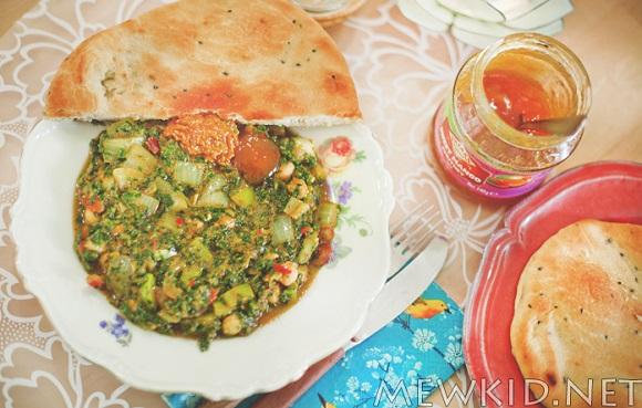 Vegansk spinat- og kikertgryte